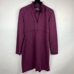 Athleta Ponte Knit Cassidy Purple Long Dress Large